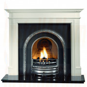 Bartello Agean Limestone Gas Fireplace with Lytton Arch Casting.jpg