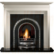Asquith Agean Limestone Fireplace with Henley Arch insert.jpg