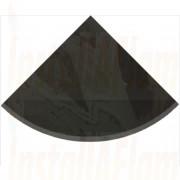 Quarter Circle - Brazilian Black Natural Slate.jpg