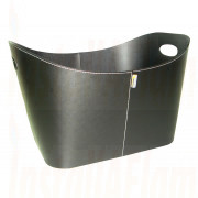 Aduro Baseline Firewood basket Black Faux Leather.jpg