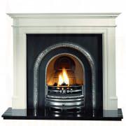 Bartello Agean Limestone Gas Fireplace with Lytton Arch Casting.jpg