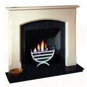 Woburn Agean Limestone Mantel with small cottage gas fire basket.jpg