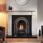 Brompton Agean Limestone Fireplace with Regal Arch.jpg