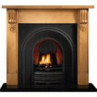 Grand Corbel Pine mantel with Crown insert Fireplace.jpg