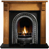 Bedford Pine Mantel with Regal Fireplace Suite.jpg