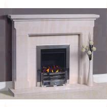 Belas Portuguese Limestone Fireplace