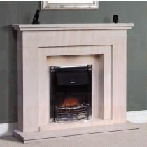 Leonor Portuguese Limestone Fireplace