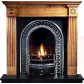Roundel Pine Mantel with Regal Arch Insert Fireplace Suite.jpg