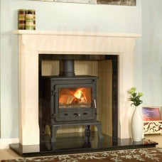 Firefox 8 Multi-Fuel Stove with Sienna Agean Limestone