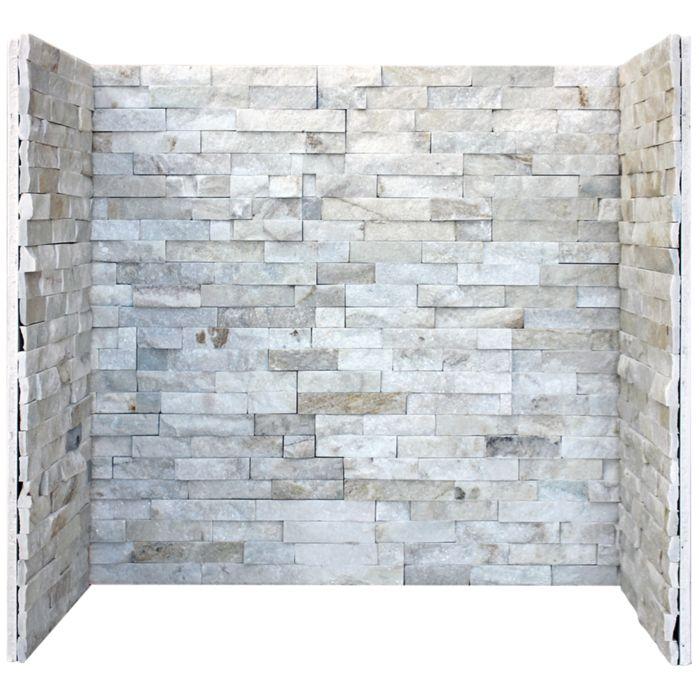 Cream Quartz Stone Tiled Fireplace Chamber.jpg
