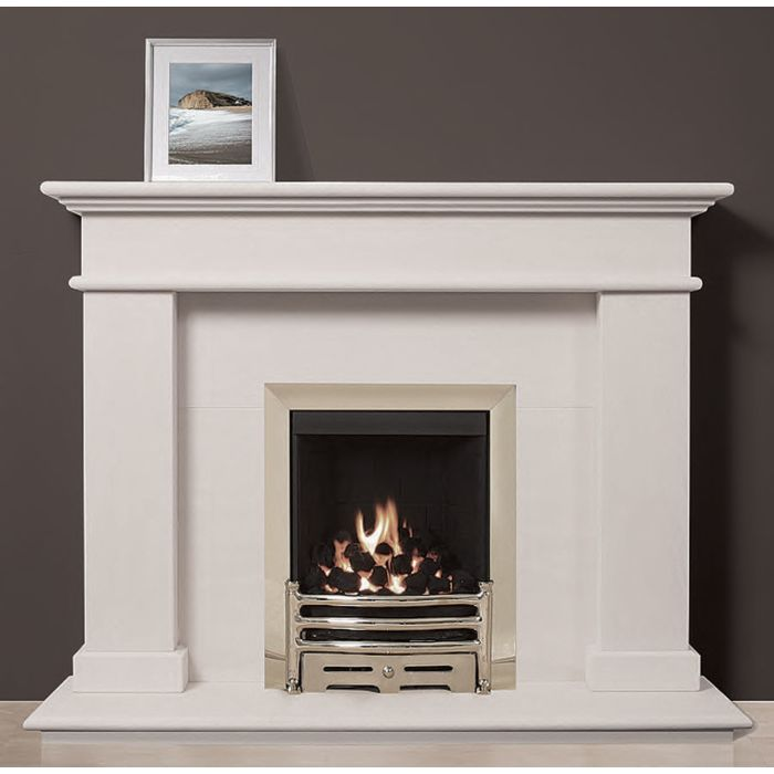 Mirandela Portuguese Limestone Fireplace, This impressive styled limestone surround is designed to compliment any room.jpg