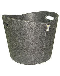 Aduro Proline felt firewood basket, grey.jpg