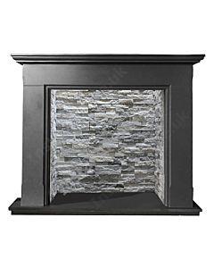 Black Granite Fireplace Mantel Polished with cream chamber.jpg