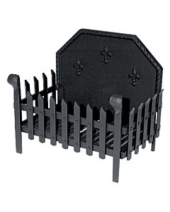 Portcullis Firebasket with Swan Neck and Fireback.jpg