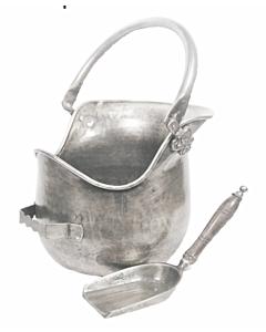 Plealey Antique Pewter Coal Bucket & Shovel.jpg
